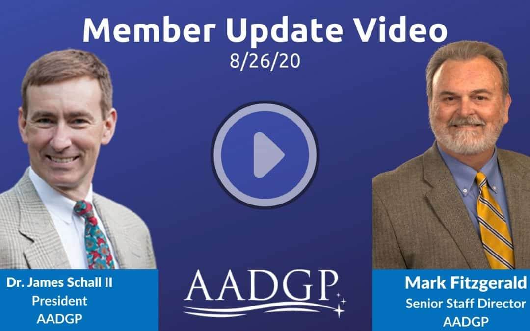 8/26/20 Member Update Video